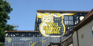 """""""You Are Not Alone"""" mural"""