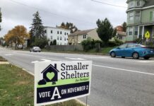 Smaller Shelters lawn sign